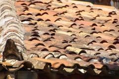 Tuiles de toit de terre cuite Photographie stock libre de droits