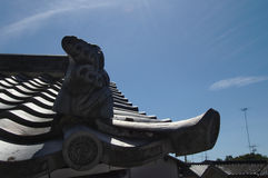 Tuiles de toit japonaises Photo libre de droits