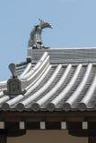 Tuiles de toit japonaises de château Photographie stock