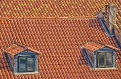 Tuiles de toit modelées Photos libres de droits