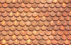Tuiles de toit oranges Photo libre de droits