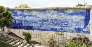 Tuiles du belvédère de Santa Luzia images libres de droits