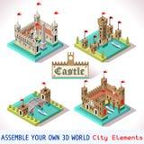 Tuiles du château 03 isométriques Images libres de droits