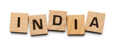 Tuiles en bois d'Inde Images libres de droits