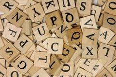 Tuiles en bois de lettre Photographie stock libre de droits