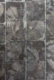 Tuiles en bois de tronçons d'arbre Photos libres de droits