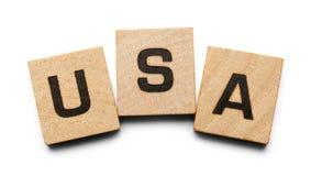 Tuiles en bois des Etats-Unis Image libre de droits