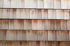 Tuiles en bois sur un mur Photo libre de droits