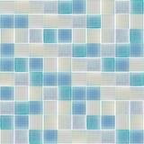Tuiles en verre intérieures bleues Photo stock