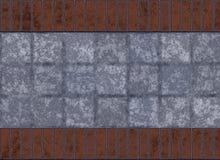Tuiles et mur de briques illustration stock
