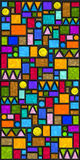 Tuiles géométriques colorées Photo stock