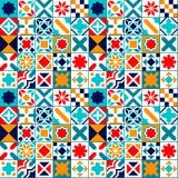 Tuiles géométriques colorées modèle sans couture, vecteur Photographie stock