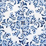 Tuiles glacées portugaises traditionnelles Image libre de droits