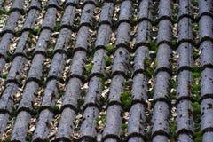 Tuiles grises d'un toit Photos libres de droits