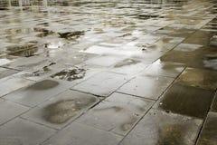 Tuiles humides de rue Image libre de droits
