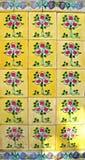 Tuiles jaunes de Peranakan image libre de droits