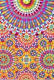 Tuiles marocaines colorées sur le mur de la mosquée mosquée de hassan II Images libres de droits