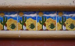Tuiles modelées par Mexicain photo libre de droits