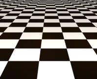 Tuiles noires et blanches Photographie stock libre de droits