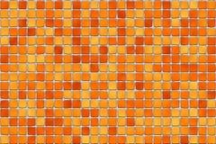Tuiles oranges - mosaïque Images stock