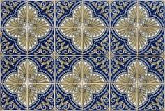 Tuiles portugaises sans couture antiques Images libres de droits