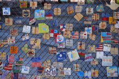Tuiles pour l'Amérique - mémorial à New York Photographie stock libre de droits
