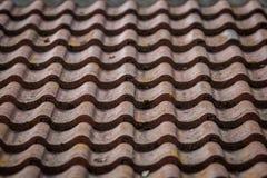 Tuiles sur un toit Images libres de droits