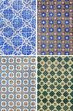 Tuiles traditionnelles de modèle à Lisbonne Photo stock