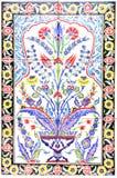 Tuiles turques faites main antiques impressionnantes faites main antiques du turc Tiles Images libres de droits