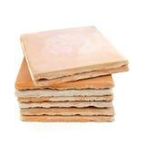 Tuiles utilisées de Saltillo, matériaux de construction réutilisés Photo libre de droits