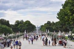 巴黎,威严的18,2013-Tuilleries庭院 图库摄影