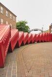 Tuimelende telefoondozen, de Oude weg van Londen Stock Afbeelding