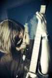Tuimelschakelaar en gitaar royalty-vrije stock fotografie