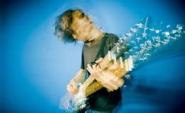 Tuimelschakelaar en gitaar stock foto's