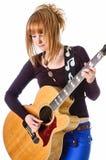 Tuimelschakelaar met akoestische gitaar Royalty-vrije Stock Foto