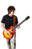 Tuimelschakelaar met elektrische gitaar Royalty-vrije Stock Afbeelding