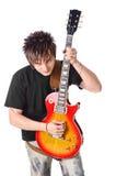 Tuimelschakelaar met elektrische gitaar Stock Fotografie