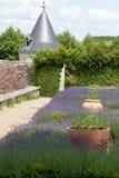 tuin en chateaula Chatonniere dichtbij Villandry Stock Foto's