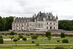 Tuin en Kasteel van Chenonceau royalty-vrije stock afbeelding