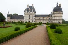 Tuin en Kasteel van Valencay in de Loire-Vallei Stock Foto's