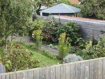 Tuin i Vlieland; Trädgård på Vlieland fotografering för bildbyråer