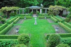 Tuin in kasteel Hatley royalty-vrije stock fotografie