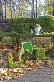 Tuin met floristische decoratie, floristicsontwerp Royalty-vrije Stock Fotografie