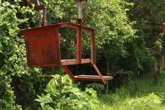 In tuin met zijboom van de zon de lichte manier Royalty-vrije Stock Fotografie