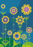 Tuin van bloem, vector Stock Fotografie
