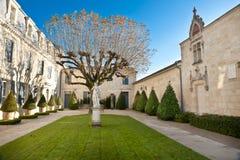 Tuin van Chateau Haut Brion, Bordeaux Frankrijk stock foto
