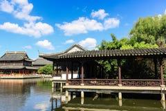 tuin van Chinese oude architectuur Stock Afbeelding