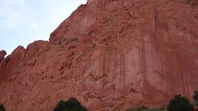 Tuin van de Goden in Colorado stock footage