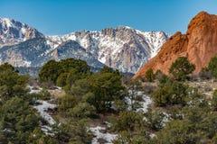 Tuin van de Goden Colorado Springs stock foto's