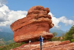Tuin van de Goden in Colorado Springs royalty-vrije stock fotografie